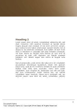 Drowning Word Template, Second Inner Page, 04407, Consulting — PoweredTemplate.com