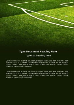 Football Duel Word Template, Cover Page, 04410, Sports — PoweredTemplate.com