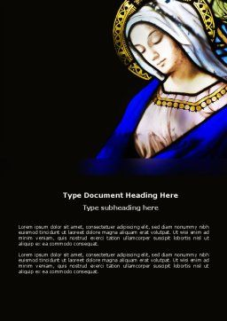 Virgin Mary Word Template Cover Page