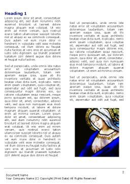 Virgin Mary Word Template First Inner Page