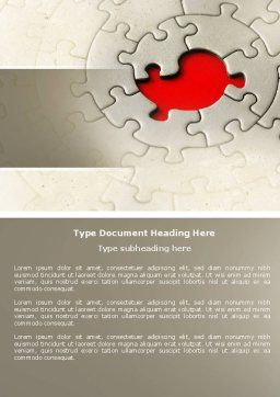 Conundrum Word Template, Cover Page, 04413, Business Concepts — PoweredTemplate.com