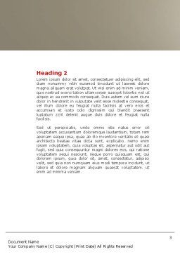 Conundrum Word Template, Second Inner Page, 04413, Business Concepts — PoweredTemplate.com