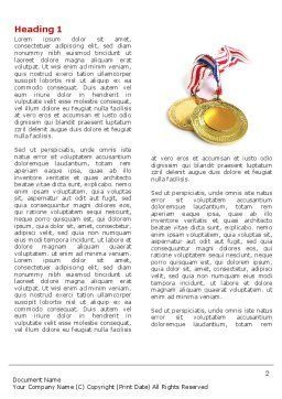 Medal Word Template, First Inner Page, 04414, Sports — PoweredTemplate.com