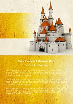 Castle Word Template, Cover Page, 04419, Construction — PoweredTemplate.com