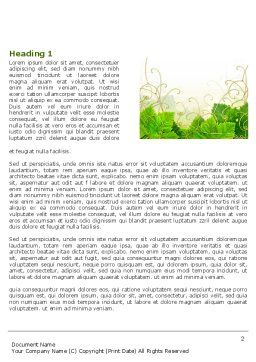 Grape Leaves Ornament Word Template, First Inner Page, 04421, Nature & Environment — PoweredTemplate.com