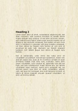 Dwelling Word Template, Second Inner Page, 04424, Construction — PoweredTemplate.com
