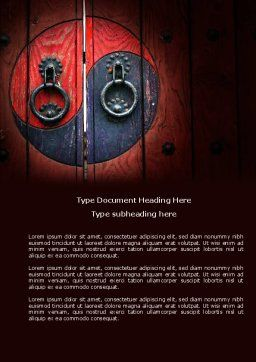 Zen Door Word Template Cover Page