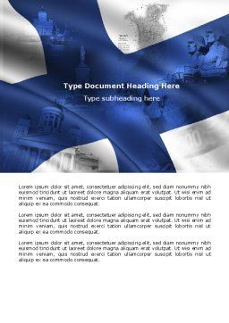 Finland Word Template, Cover Page, 04427, Flags/International — PoweredTemplate.com