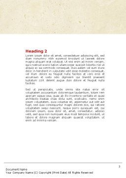 Beat Word Template, Second Inner Page, 04431, Medical — PoweredTemplate.com