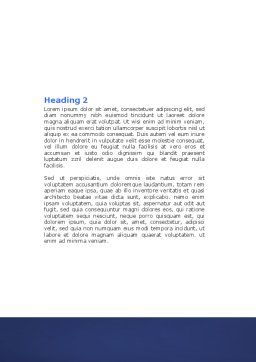 Brain Waves Word Template, Second Inner Page, 04437, Medical — PoweredTemplate.com