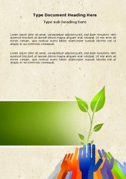 Ecology Building Word Template Cover Page