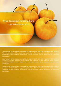 Yellow Apples Word Template Cover Page