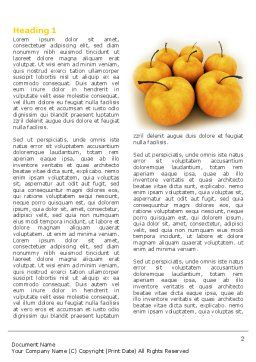Yellow Apples Word Template First Inner Page