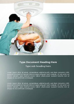 MRI Word Template, Cover Page, 04440, Medical — PoweredTemplate.com