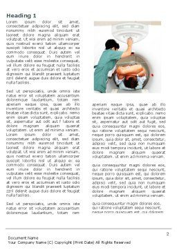 MRI Word Template, First Inner Page, 04440, Medical — PoweredTemplate.com