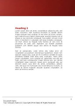 Red Hearts Word Template, Second Inner Page, 04444, Holiday/Special Occasion — PoweredTemplate.com