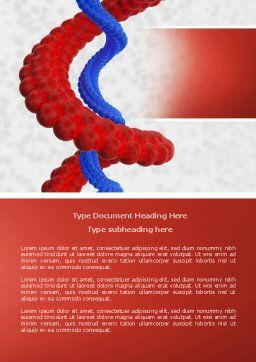 Helix Word Template, Cover Page, 04446, Medical — PoweredTemplate.com