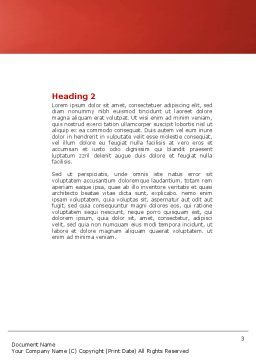 Helix Word Template, Second Inner Page, 04446, Medical — PoweredTemplate.com