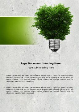 Green Energy Word Template Cover Page