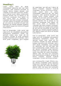 Green Energy Word Template First Inner Page