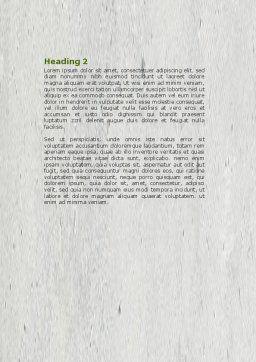 Green Energy Word Template Second Inner Page