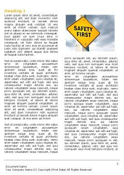 Safety First Word Template First Inner Page