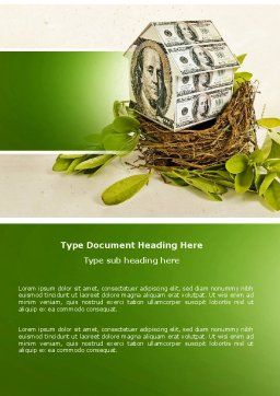 Loan On Mortgage Word Template, Cover Page, 04454, Financial/Accounting — PoweredTemplate.com