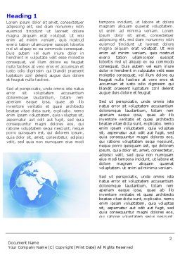 Blue Globe Word Template, First Inner Page, 04456, Global — PoweredTemplate.com