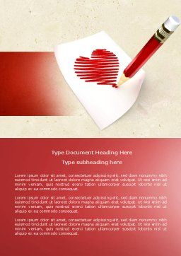 Picture of Heart Word Template, Cover Page, 04457, Holiday/Special Occasion — PoweredTemplate.com