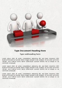 Intellectual Test Word Template, Cover Page, 04459, Education & Training — PoweredTemplate.com