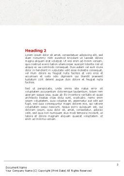 Intellectual Test Word Template, Second Inner Page, 04459, Education & Training — PoweredTemplate.com