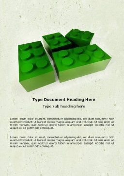 Lego Part Word Template, Cover Page, 04460, Construction — PoweredTemplate.com