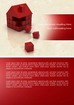 3D Cubes Building Word Template, Cover Page, 04463, Construction — PoweredTemplate.com