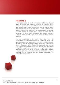 3D Cubes Building Word Template, Second Inner Page, 04463, Construction — PoweredTemplate.com