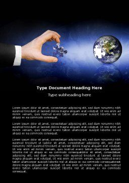 Incomplete Word Template, Cover Page, 04468, Business — PoweredTemplate.com