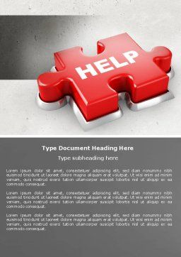 Help Puzzle Word Template, Cover Page, 04470, Consulting — PoweredTemplate.com