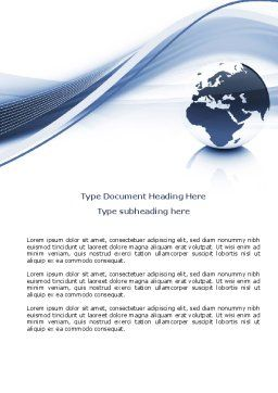 World View Word Template, Cover Page, 04472, Global — PoweredTemplate.com