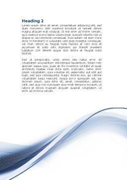 World View Word Template, Second Inner Page, 04472, Global — PoweredTemplate.com