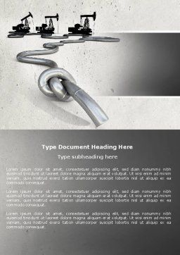 Gas Pipelines Word Template, Cover Page, 04478, Utilities/Industrial — PoweredTemplate.com