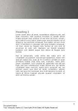 Gas Pipelines Word Template, Second Inner Page, 04478, Utilities/Industrial — PoweredTemplate.com