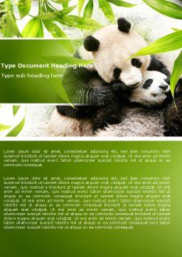 Panda Word Template, Cover Page, 04479, Agriculture and Animals — PoweredTemplate.com