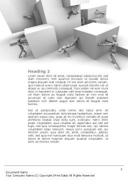 Different Angle Word Template, Second Inner Page, 04483, Consulting — PoweredTemplate.com