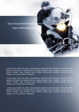 Snowmobile Word Template, Cover Page, 04489, Cars/Transportation — PoweredTemplate.com