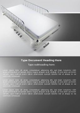 Wheel Stretcher Word Template, Cover Page, 04491, Medical — PoweredTemplate.com