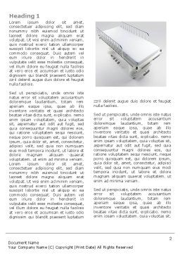Wheel Stretcher Word Template, First Inner Page, 04491, Medical — PoweredTemplate.com