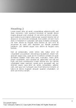 Wheel Stretcher Word Template, Second Inner Page, 04491, Medical — PoweredTemplate.com