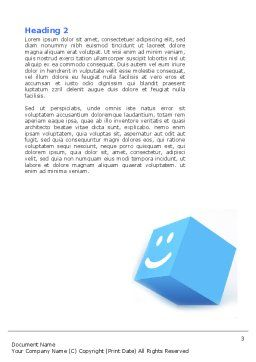 Smiles Word Template Second Inner Page