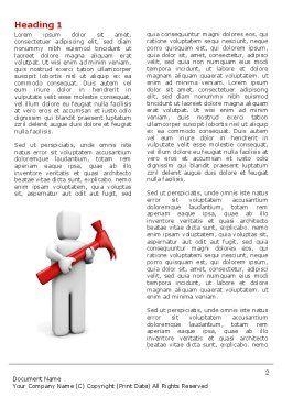 Hammer Man Word Template, First Inner Page, 04496, Utilities/Industrial — PoweredTemplate.com