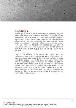 Hammer Man Word Template, Second Inner Page, 04496, Utilities/Industrial — PoweredTemplate.com