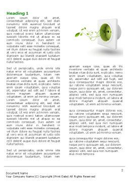 Green Socket Word Template, First Inner Page, 04502, Careers/Industry — PoweredTemplate.com